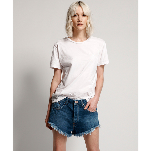 ONETEASPOON  WW  ORGANIC SURF BLUE OUTLAWS MID LENGTH DENIM SHORT  牛仔短褲--(女)