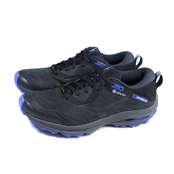 美津濃 Mizuno WAVE RIDER GTX 跑鞋 運動鞋 黑/藍 男鞋 J1GC217913 no136