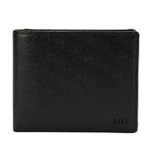 DAKS 防刮皮革多卡格壓扣零錢袋短夾皮夾錢包(黑色)230061