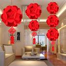 小號 創意 新年 過年佈置 春節裝飾 繡球 掛件 2018 春聯 裝飾 吊旗