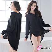 情趣用品-睡衣商品♥女帝♥【Gaoria】男友風 雪紡襯衫 性感睡衣 黑女性情趣用品