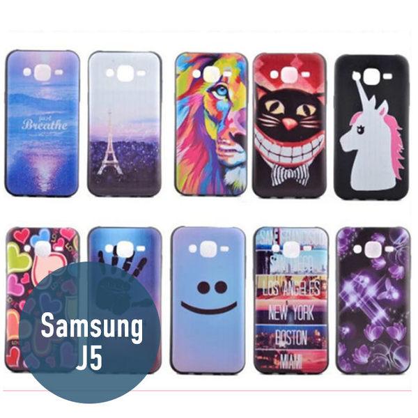 SAMSUNG 三星 J5 彩繪卡通殼 黑色TPU殼 手機套 保護套 手機殼 保護套 可愛 卡通