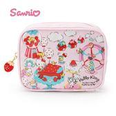 日本限定  HELLO KITTY 凱蒂貓  草莓版 收納袋 / 化妝包