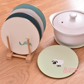 隔熱墊 2個裝 家用防滑木質隔熱墊北歐防燙餐桌墊盤子墊杯墊砂鍋墊碗墊子 6色
