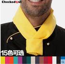 廚師領巾三角巾checkedout西餐廳汗巾男女廚房酒店後廚工作領巾