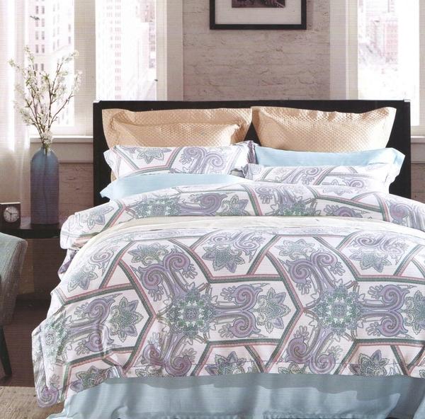 【Jenny Silk名床】喬伊斯.100%天絲.360條紗.超柔觸感.加大雙人床包組兩用鋪棉被套全套
