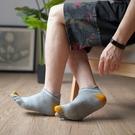 五指襪 夏短襪男款網眼護跟純棉五指襪個性男薄短筒全棉運動腳趾襪子男士-Ballet朵朵