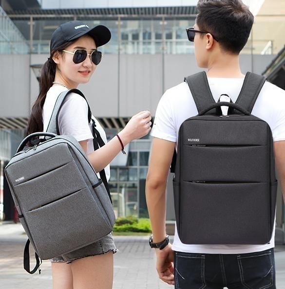 書包 商務背包男士雙肩包韓版潮流旅行包休閒女學生書包簡約時尚電腦包 維多原創
