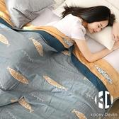 日式水洗棉紗布被子純棉單雙人毛巾被夏季五層紗布毯子薄款空調毯【Kacey Devlin】