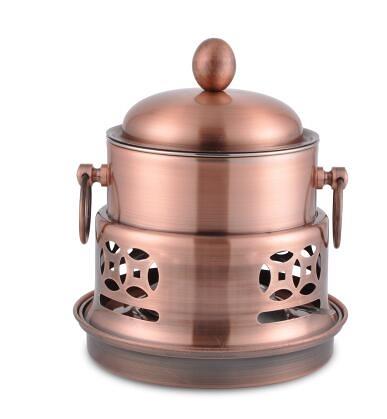 幸福居*宮廷酒精爐小火鍋液體不鏽鋼鍋具酒精爐 家用 新款可調火力的高檔 宮廷液體爐 套裝