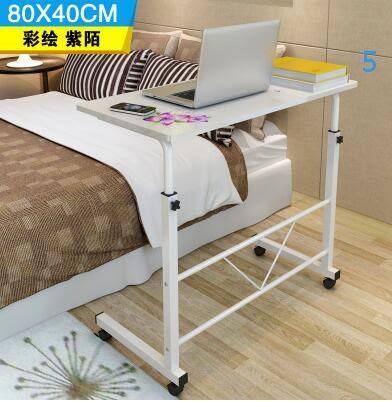 簡易筆記本電腦桌床上用台式家用書桌簡約現代可移動升降床邊桌子