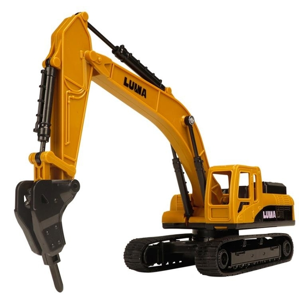 挖掘機玩具 打鉆機玩具車推土車兒童挖掘機運輸土工程車 破碎機【快速出貨國慶八折】