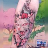 2張|花臂少女萬聖節日繫暗黑浮世繪軟妹貓咪紋身貼【英賽德3C數碼館】