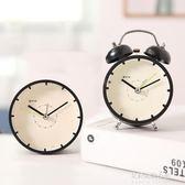 時尚簡約鬧鐘創意床頭靜音時鐘 迷你可愛學生小鬧鐘個性兒童臺鐘  朵拉朵衣櫥