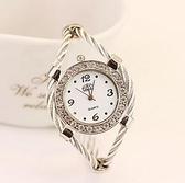 韓版休閑時尚手镯表潮流女士腕表時裝鑲鑽簡約石英表學生手表 極簡雜貨