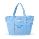小禮堂 大耳狗 船形帆布手提袋 帆布便當袋 帆布托特包 帆布袋 (藍 logo) 4550337-57705