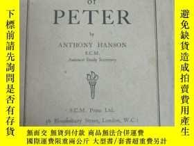 二手書博民逛書店外文書籍罕見《study outline on the first epistle of peter》 存24頁
