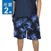 100%純棉海灘褲2件,M-XL, L-3L尺碼