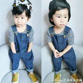寶寶背帶褲秋童裝男童1-2-3歲韓版長褲女童嬰兒牛仔背帶褲小童艾美時尚衣櫥