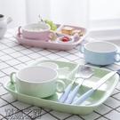 ▶創意餐盤分格陶瓷盤子早餐一人食餐具套裝...