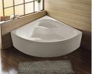【麗室衛浴】BATHTUB WORLD  D-065 壓克力  扇形造型缸 140*140*60CM
