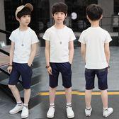 童裝男童夏裝套裝 新款兒童中大童韓版休閒兩件套 LR1818【VIKI菈菈】