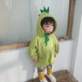 包屁衣秋冬韓版加絨嬰兒衣服可愛幼兒哈衣爬服連身衣【聚可愛】