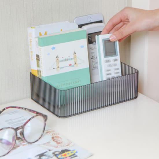 ✭慢思行✭【N460】透明立體紋路長方收納盒 塑料盒子 化妝品 浴室 防水 廚房 分類 文具