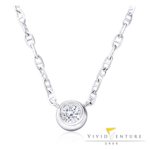 鑽石項鍊 30分 DVVS2 14K金台 14K金鍊 亞帝芬奇 單純