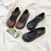 小皮鞋女學生正韓百搭圓頭復古單鞋軟妹鞋 青木鋪子