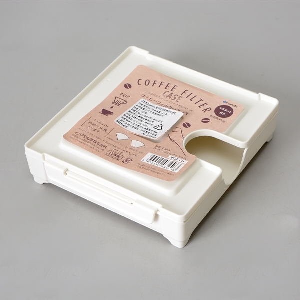 日本製【Inomata】磁吸式咖啡濾紙收納盒 W/ 0345