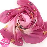 【奢華時尚】秒殺推薦!CHANEL 紫色大雙C太空衛星印花80公分方形絲巾領巾(八成新)#23326