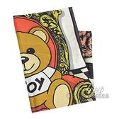 茱麗葉精品【全新現貨】 MOSCHINO 03509 M1840 巴洛克風小熊印花絲質方巾.粉邊