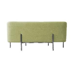 時尚棉麻長方型椅凳-黃色