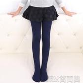 兒童連褲襪加絨加厚春秋冬季寶寶女童打底褲外穿白色舞蹈襪子練功 簡而美