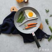 川島屋 日式圓形早餐三格煎鍋平底鍋不黏鍋早餐鍋炒鍋煎蛋鍋GJ-19YYS 麥吉良品