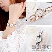 潮流女學生手錶女時尚石英錶韓版白色仿陶瓷防水簡約手鏈女錶【萊爾富免運】