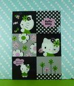 【震撼  】Hello Kitty 凱蒂貓文件夾黑色花【共1 款】