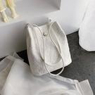 蕾絲2021新款手提包購物袋鏤空沙灘包仙女刺繡單肩包包手袋仙女包格蘭小舖