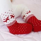 秋冬寶寶新年連褲襪周歲大紅打底褲圣誕節純棉女童加厚大PP連體襪 【快速出貨】