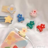耳機轉接線可愛小花蘋果耳機轉接頭二合一邊聽歌邊充電蘋果X數據線轉換 多色小屋