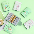 多功能卡包 -日系可愛酪梨 水蜜桃卡片夾 卡夾 風琴式卡包 多卡位 信用卡夾【AN SHOP】