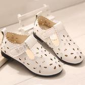 聖誕交換禮物-涼鞋 新款韓版潮女童涼鞋鏤空兒童單鞋皮鞋時尚休閒鞋透氣鞋子