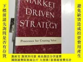 二手書博民逛書店【英文原版罕見精裝】Market Driven Strategy
