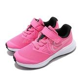 Nike 慢跑鞋 Star Runner 2 PSV 粉紅 白 童鞋 中童鞋 運動鞋 魔鬼氈 【ACS】 AT1801-603