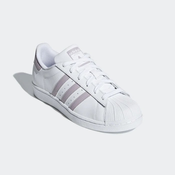 ISNEAKERS ADIDAS ORIGINALS SUPERSTAR 白 薰衣草紫 復古 休閒鞋 女鞋 基本款 DB3347