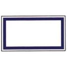 《享亮商城》1064 方型藍框 12*22mm  鶴屋