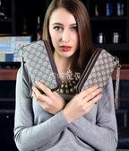 女性手拿包 新款女士錢包長款大容量雙拉鍊手拿錢包女雙層手抓包 珍妮寶貝