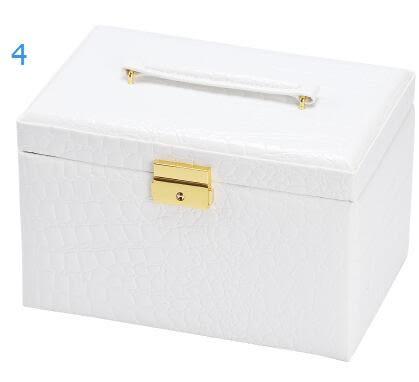 儷麗歐式摩登豪華飾品盒收納盒公主韓國皮化妝盒木製首飾盒