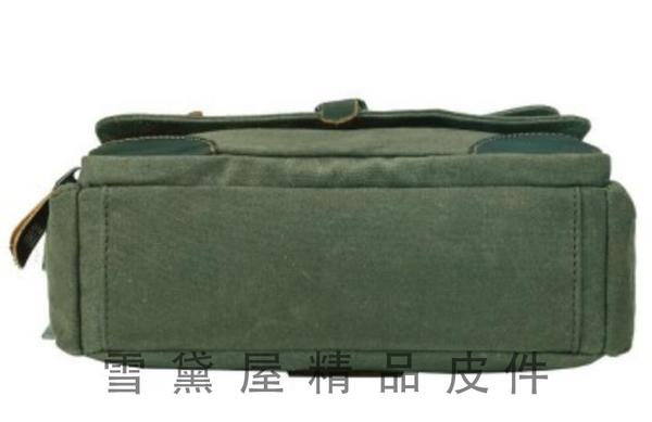 ~雪黛屋~troop 書包大容量斜側手工帆布經典包100%純棉加強防水帆布耐磨耐承重量隨身物品STRP0436